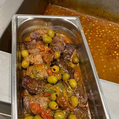 Boeuf auy olives et tomates séchées